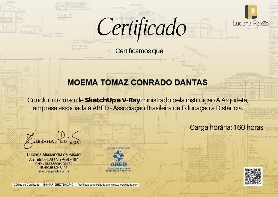 certificado autenticado luciana paixao - ABED: Certificação de Conclusão dos Cursos Livres