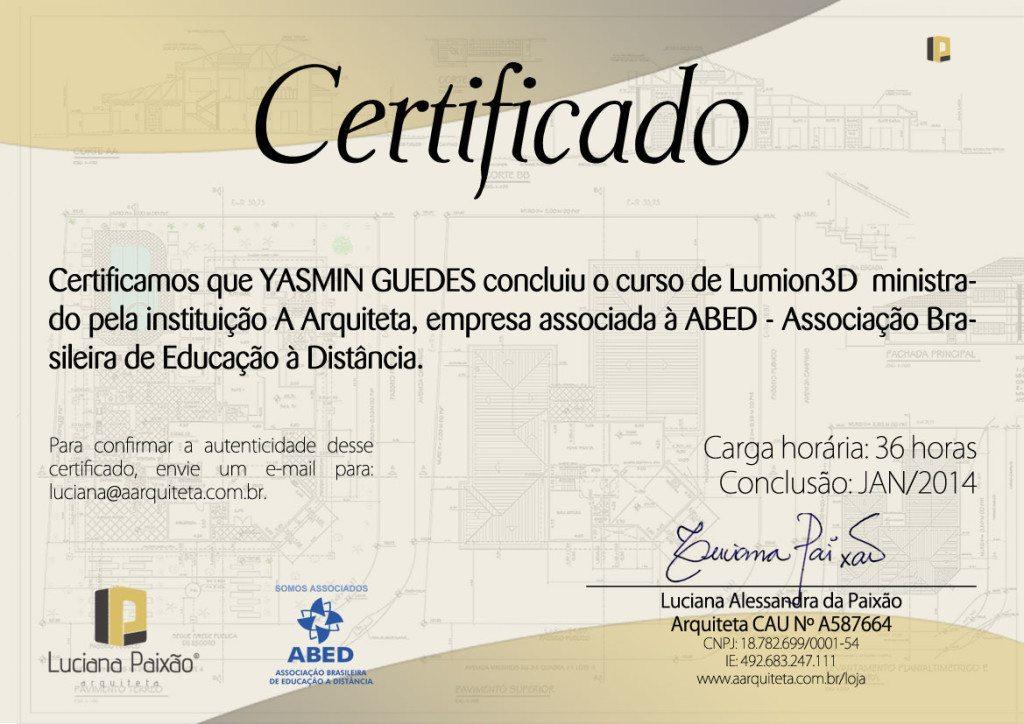 certificado-curso-de-lumion-yasmin-guedes