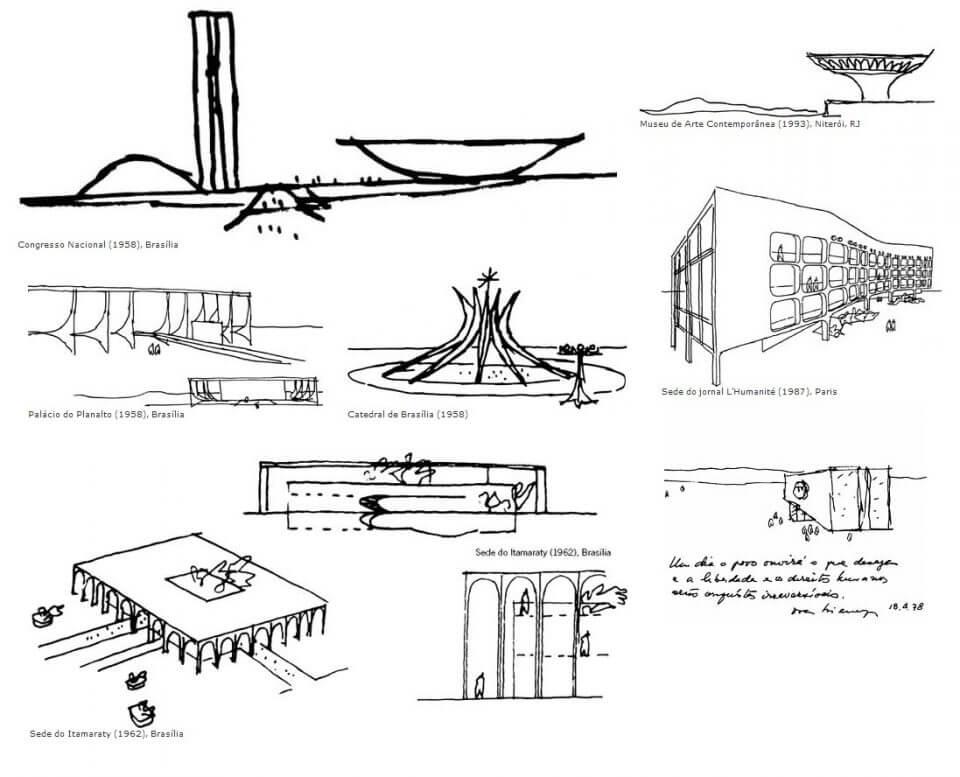 desenhos por Oscar Niemeyer ****