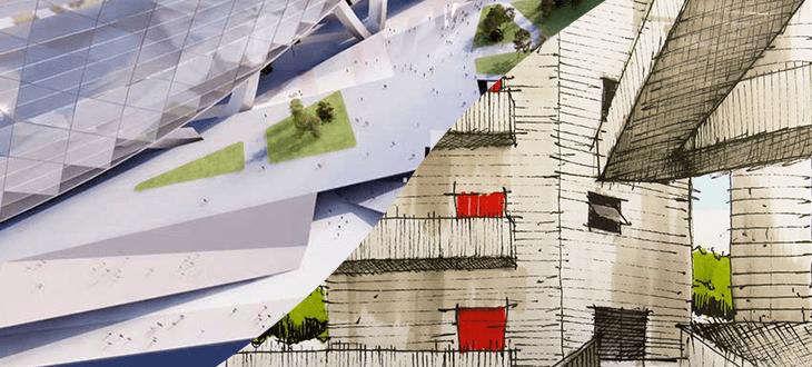 Projetos de arquitetura e desenhos - Diferença