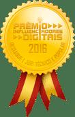 Vencedora do Prêmio Influenciadores Digitais 2016 - Destaque, Júri Técnico e Popular