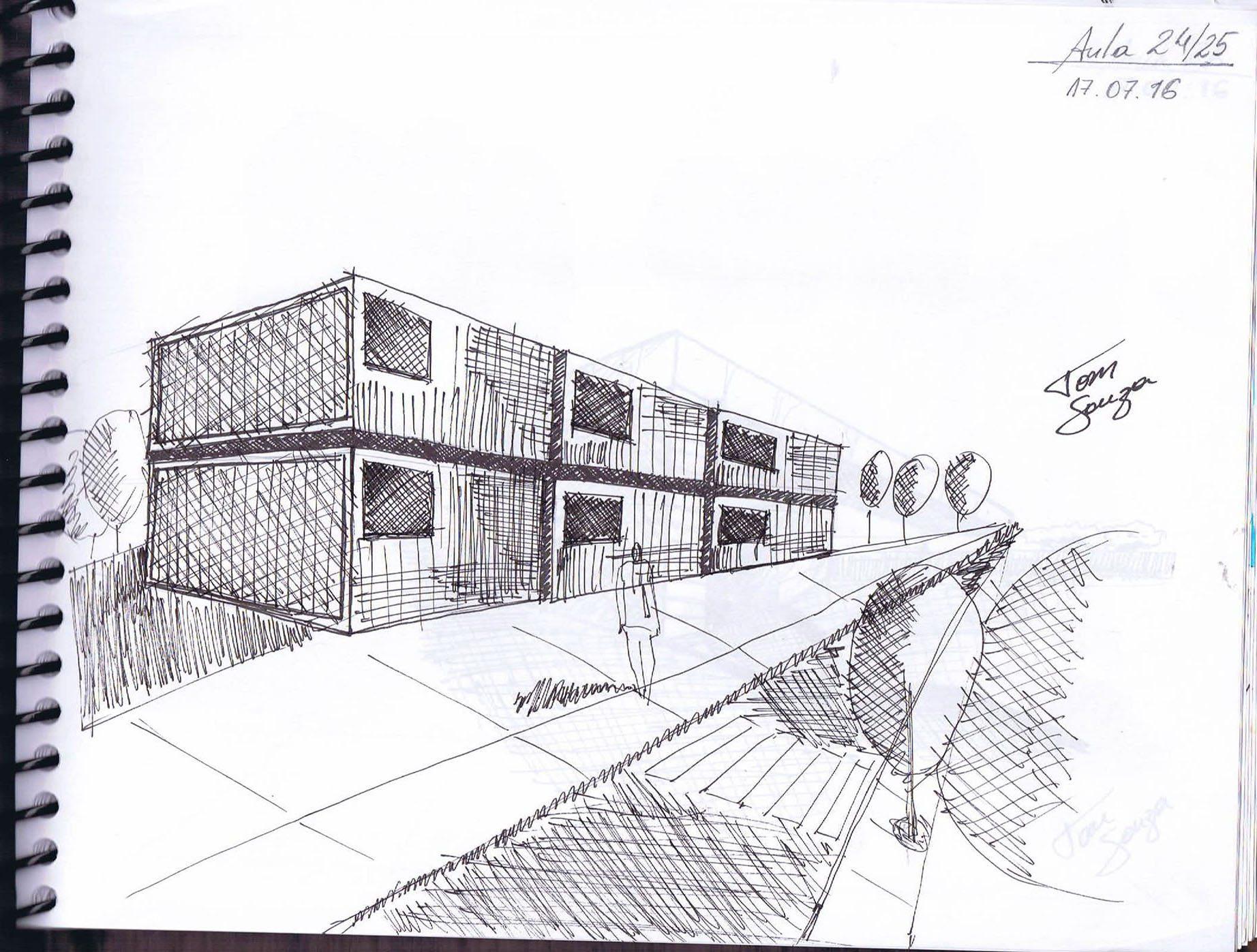 curso perspectivas mão livre anderson de souza ferreira04 - Trabalhos de Perspectiva a Mão Livre