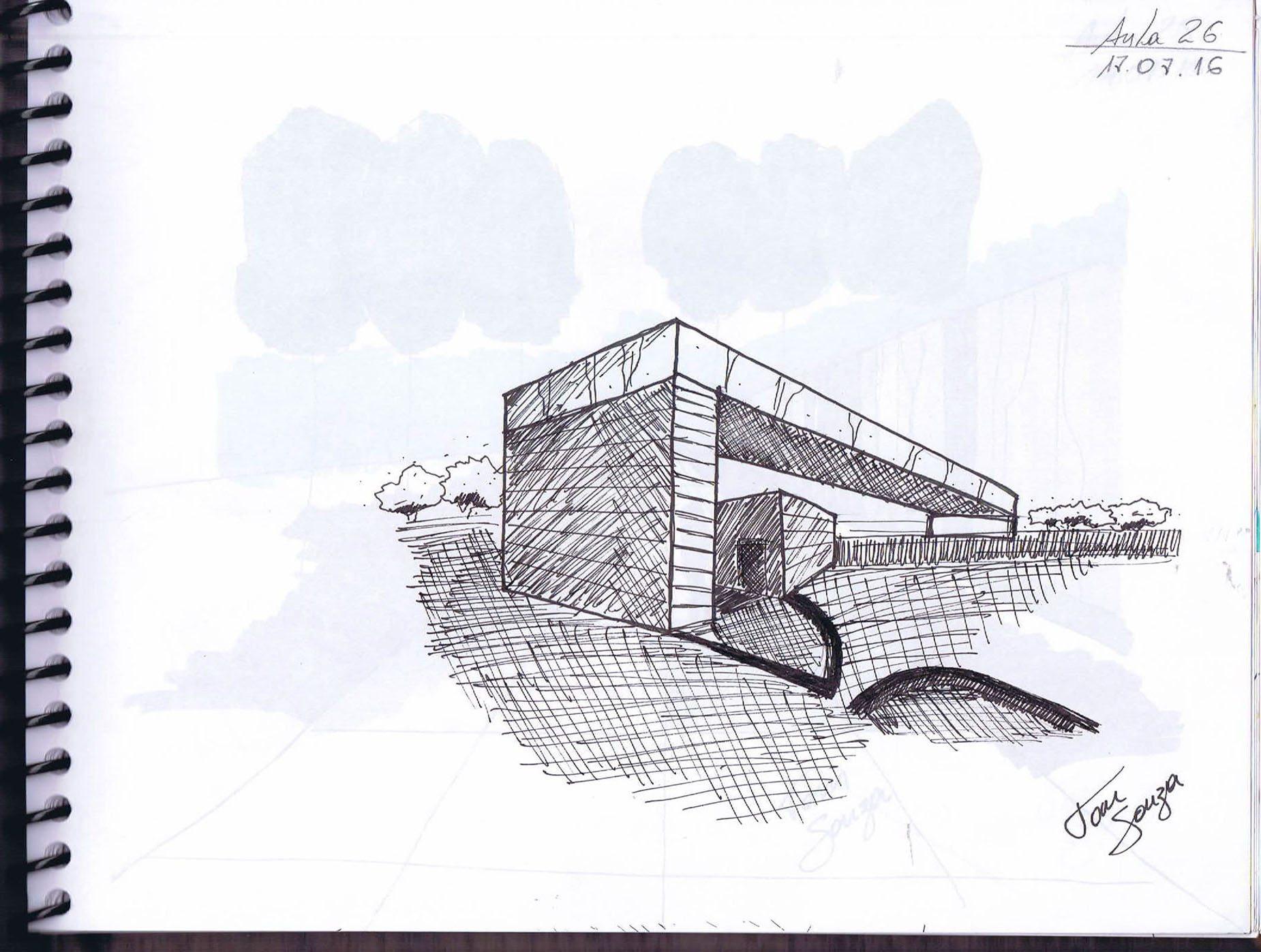 Trabalhos de Perspectiva a Mão Livre Anderson De Souza Ferreira