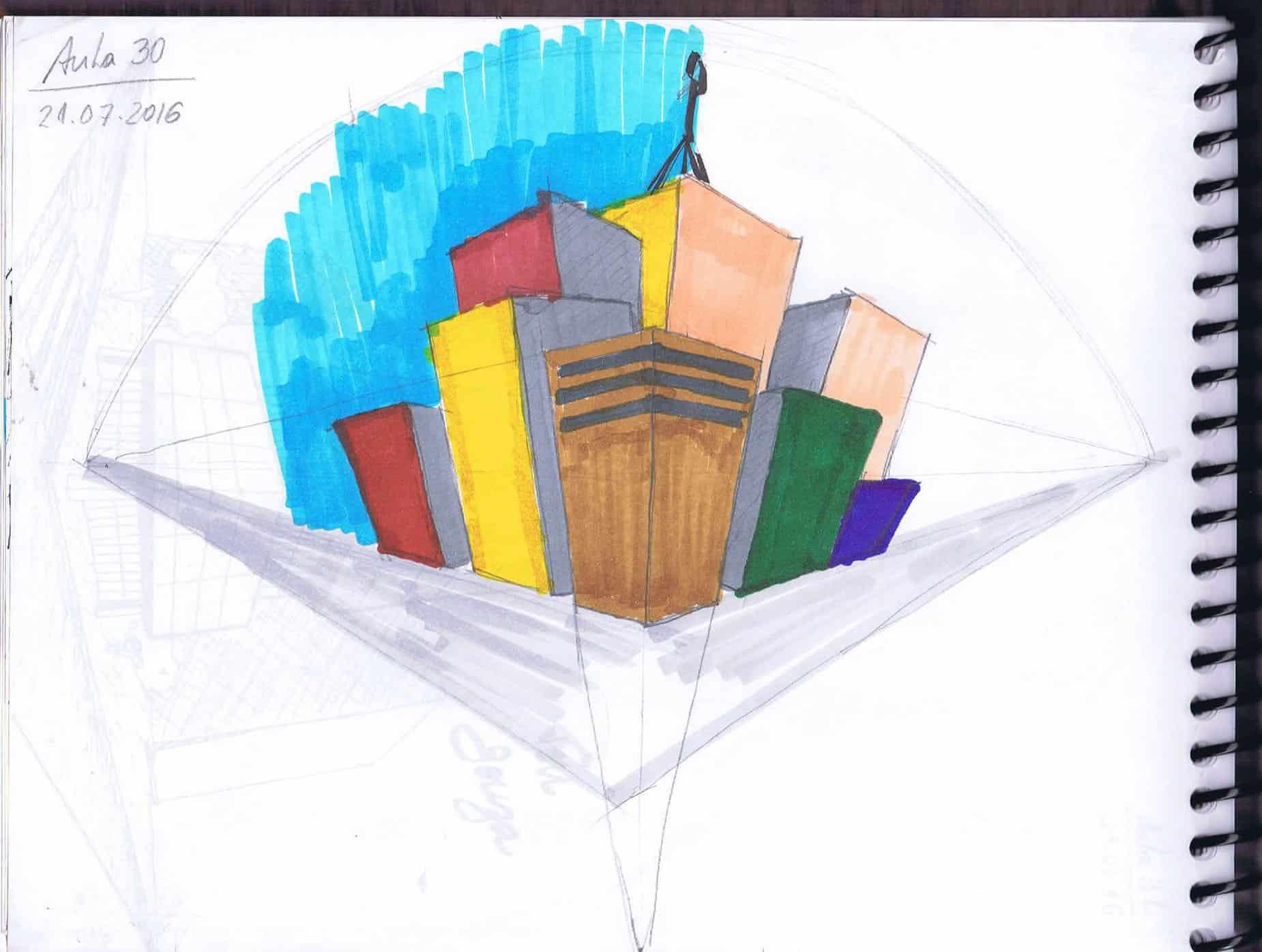 curso perspectivas mão livre anderson de souza ferreira08 - Trabalhos de Perspectiva a Mão Livre
