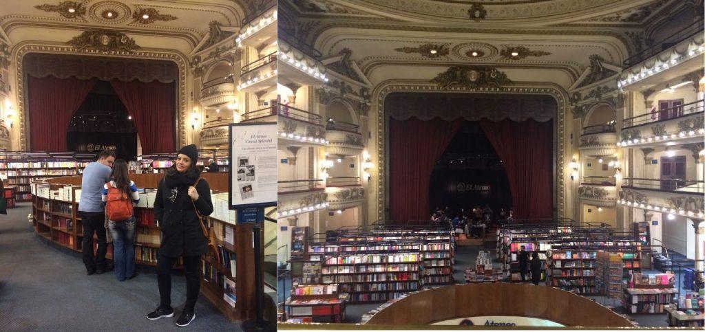 Antigo teatro que hoje abriga uma das mais bonitas livrarias de Buenos Aires