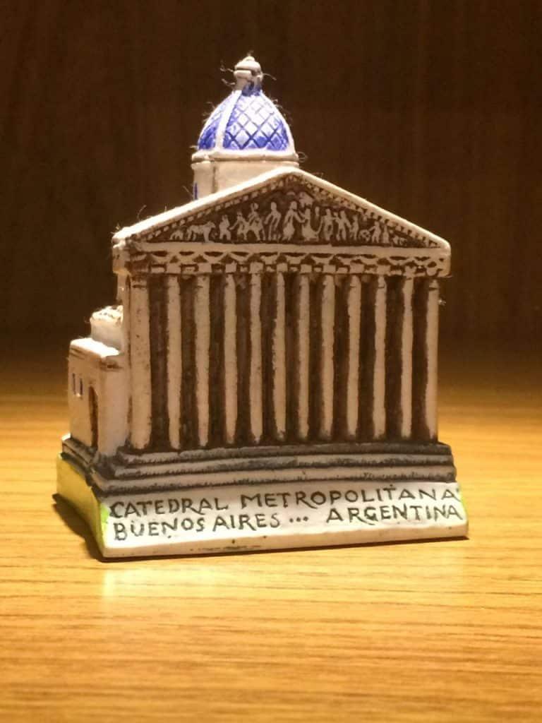 Miniatura Catedral Metropolitana de Buenos Aires Papa Francisco