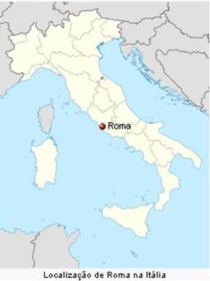Mapa da Goegrafia de Roma formato Bota