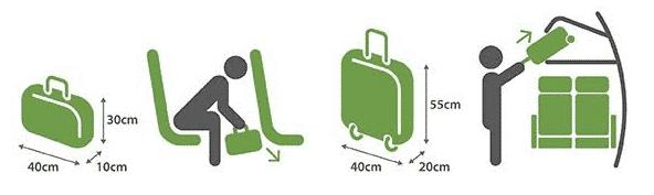 Conheça os limites do tamanho da bagagem de mão