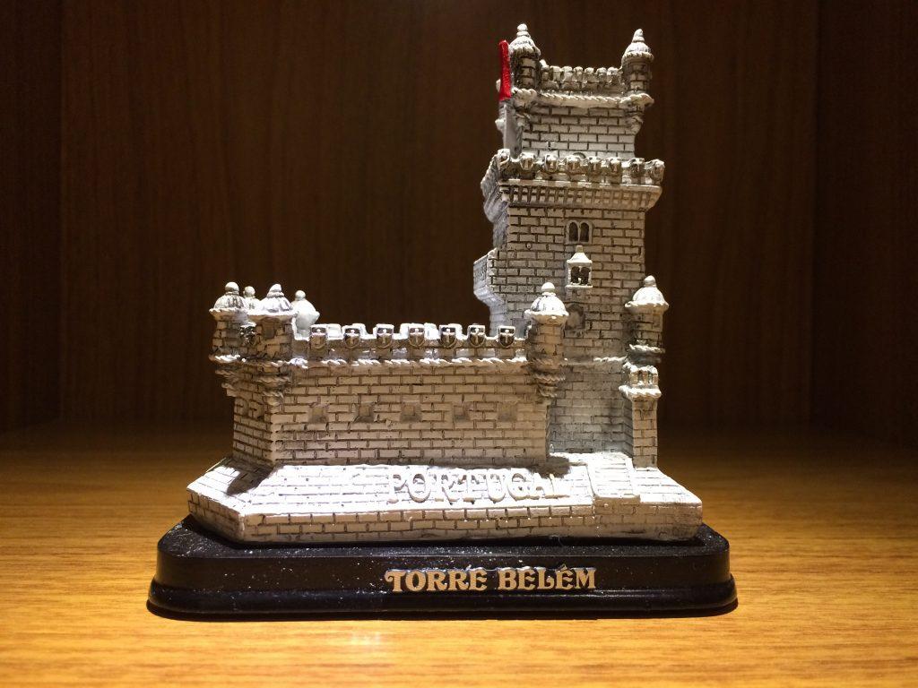 Miniatura Arquitetônica da torre de Belem em Portugal