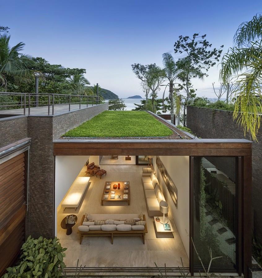 telhado verde - Arquitetura sustentável em projetos de arquitetura