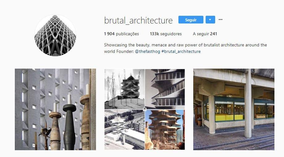 biografia instagram arquitetura