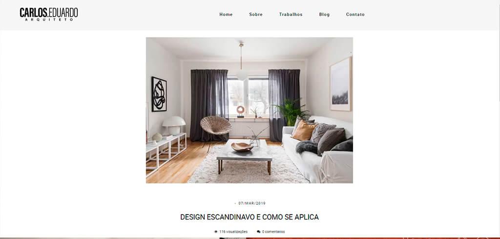 carlos eduardo arquiteto blog - Site profissional para Arquitetos: Saiba como ter o seu.