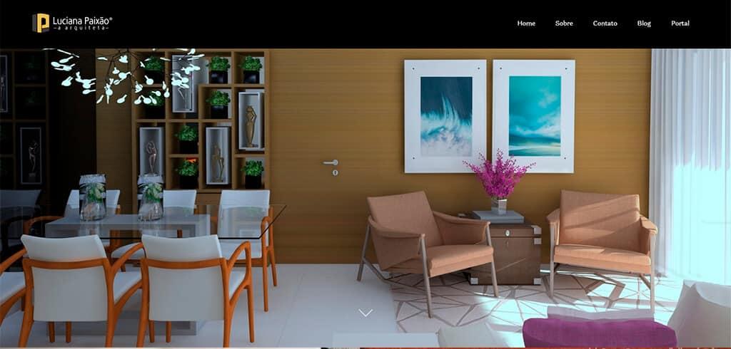luciana paixao a arquiteta - Site profissional para Arquitetos: Saiba como ter o seu.