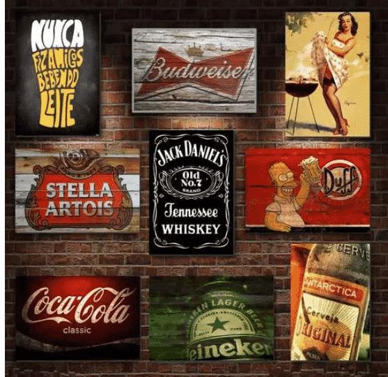 placas decorativas para bar