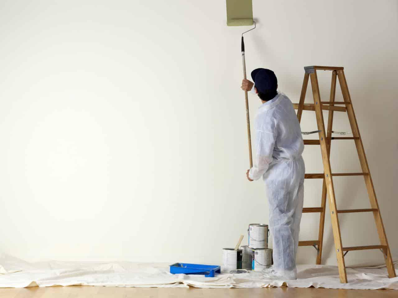 Parede de drywall com pintura