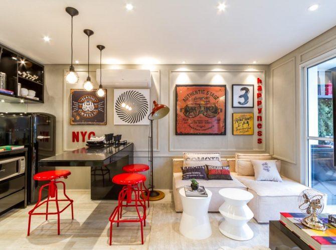 projetos de apartamentos studios