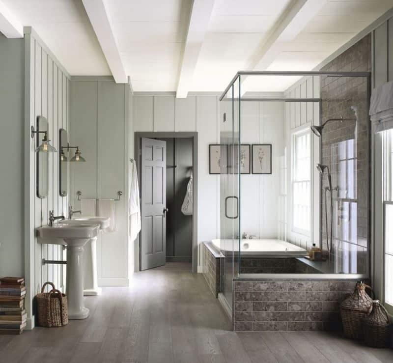 banheiro com cores neutras - Os 10 Mandamentos da Pintura