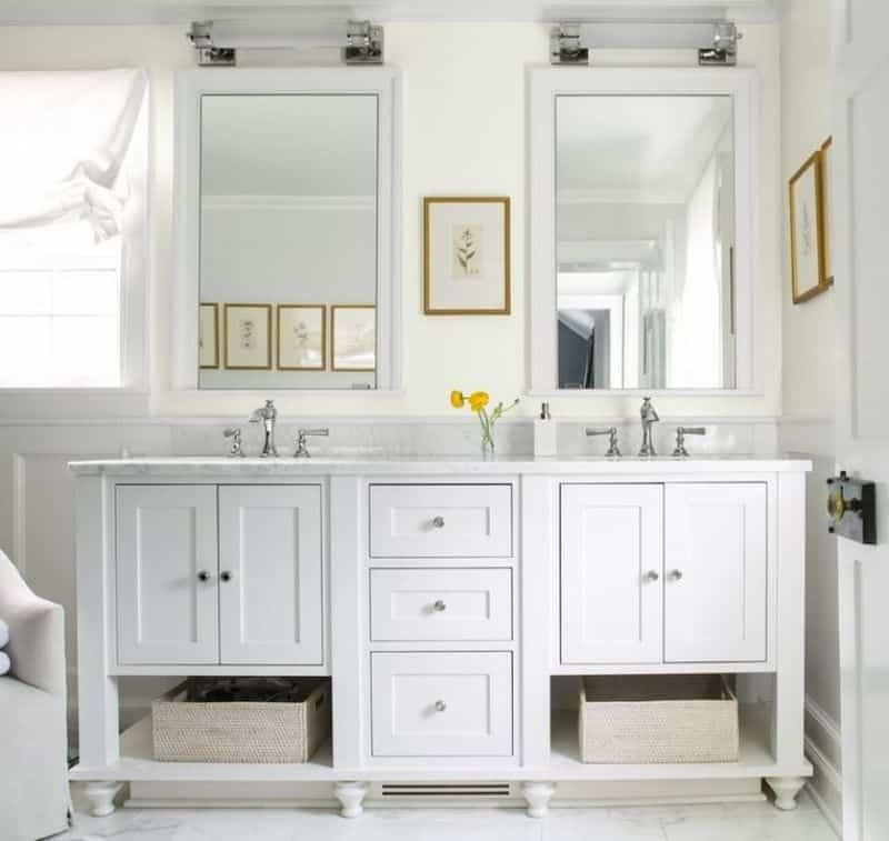 banheiro todo branco - Os 10 Mandamentos da Pintura