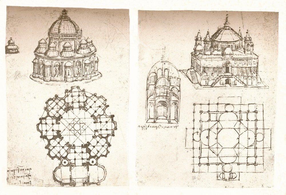 Desenhos feitos a mão.
