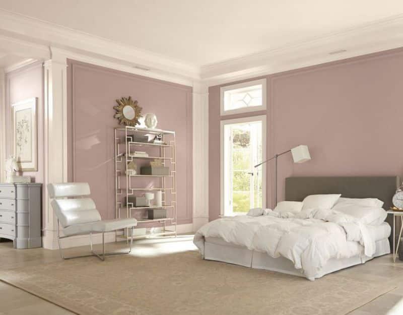 quarto de casal lilás claro - Os 10 Mandamentos da Pintura