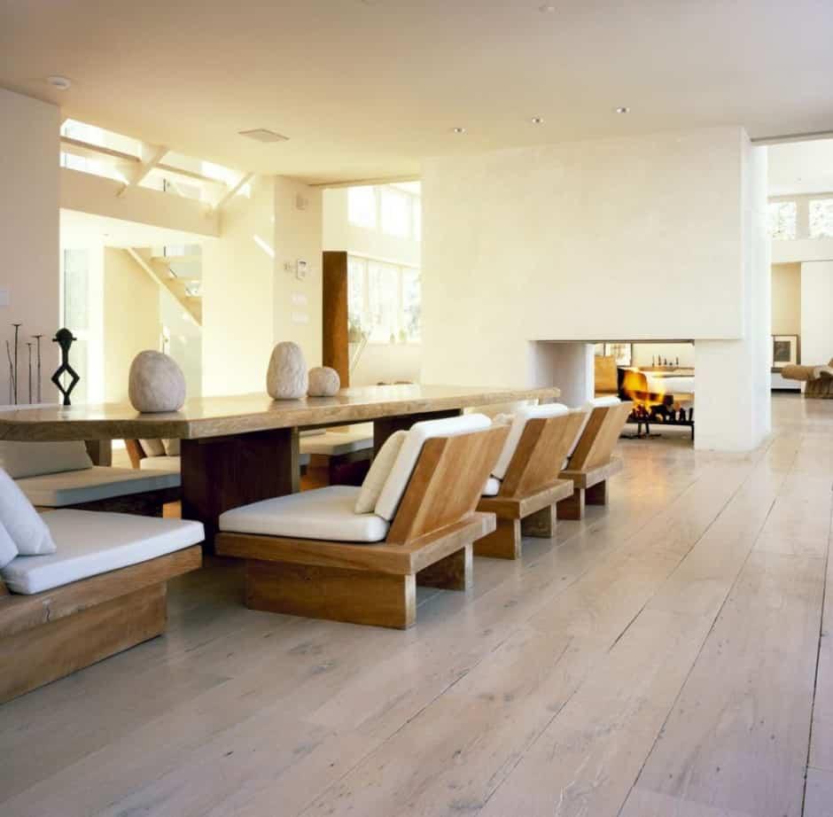 sala de jantar com mesa de mármore - Como tornar sua casa totalmente Zen em 10 passos