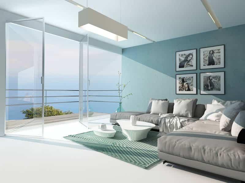 sala com porta dupla de vidro - As cores pantone do ano para 2020 foram anunciadas acidentalmente?