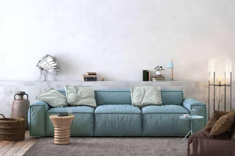sala com sofá azul oceano - As cores pantone do ano para 2020 foram anunciadas acidentalmente?
