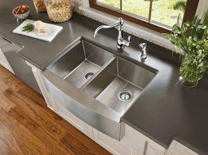 tigela dupla de aço 300x224 - Pias de cozinha: Como escolher o melhor estilo para suas necessidades