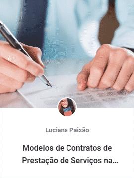 modelos de contratos de prestacao de servicos - Aulas Grátis