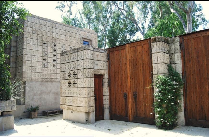 Frank Lloyd Wrights sistema textile blocks - Frank Lloyd Wright