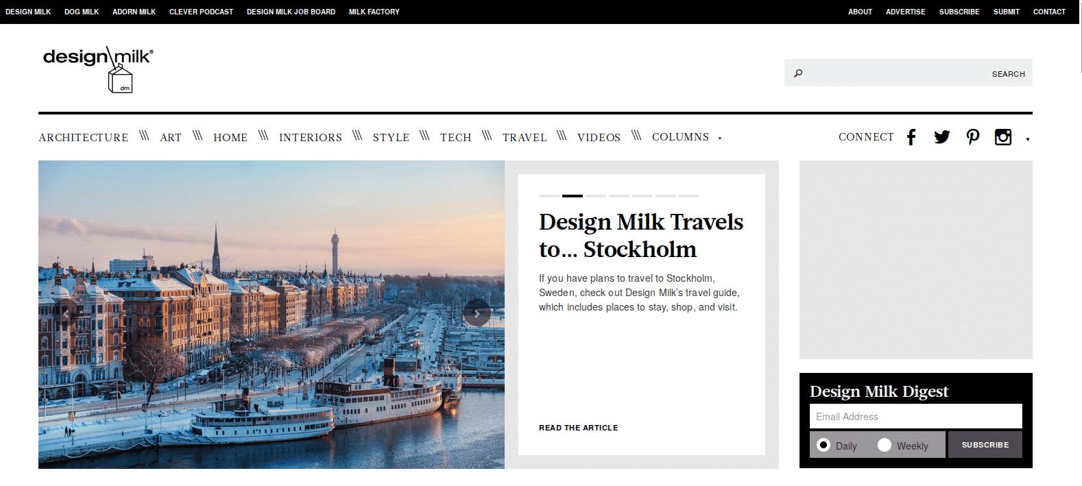 sites obrigatórios para arquitetos e designers