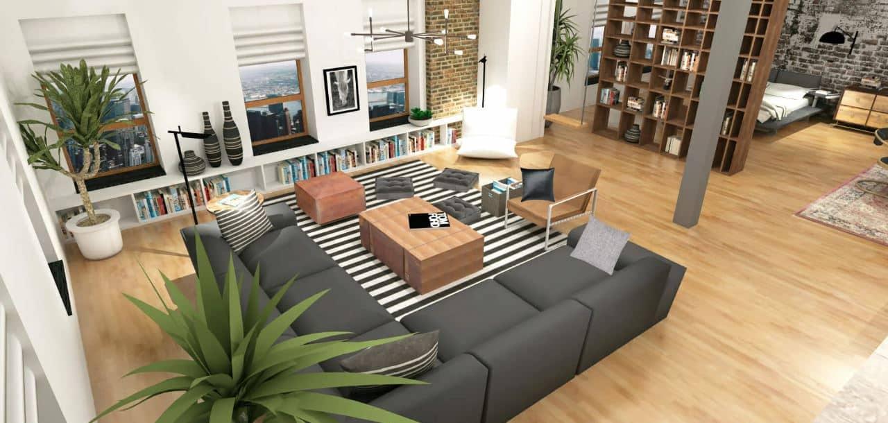 planta baixa de uma casa - Ideias de layout para apartamentos tipo Studio