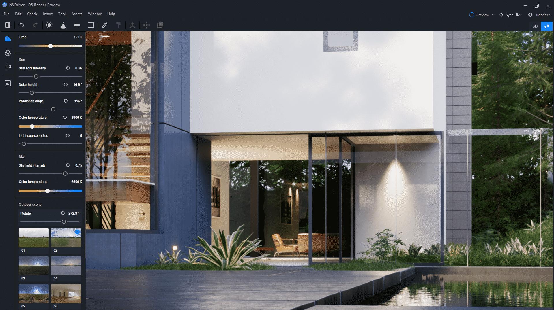 D5 Render interface - D5 Render - nova solução para renderizações de alto nível com Ray Tracing