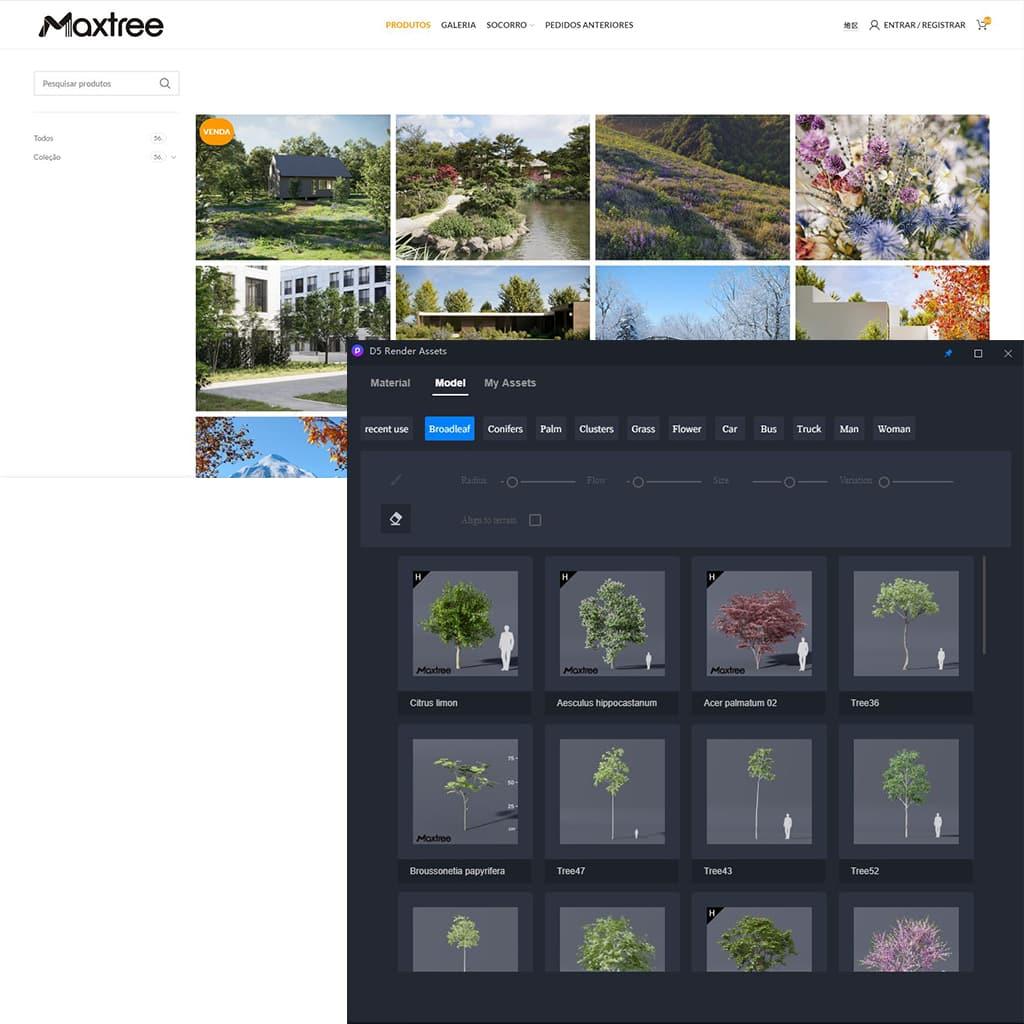 Maxtree assets - D5 Render - nova solução para renderizações de alto nível com Ray Tracing