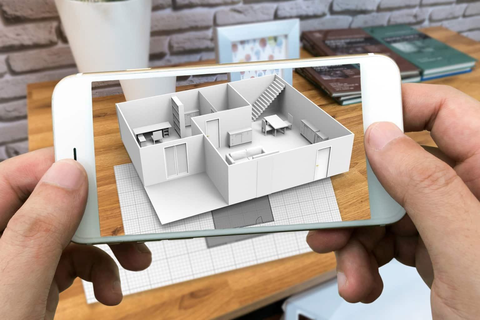 Projeto de casa em realidade aumentada - Estúdio de visualização 3D e sua forma de ajudar os arquitetos