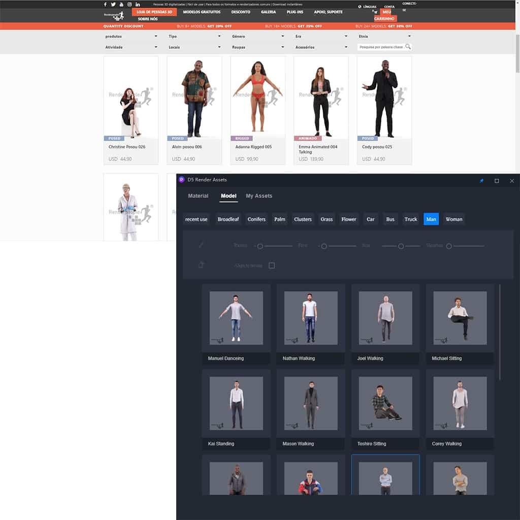 Render People assets - D5 Render - nova solução para renderizações de alto nível com Ray Tracing