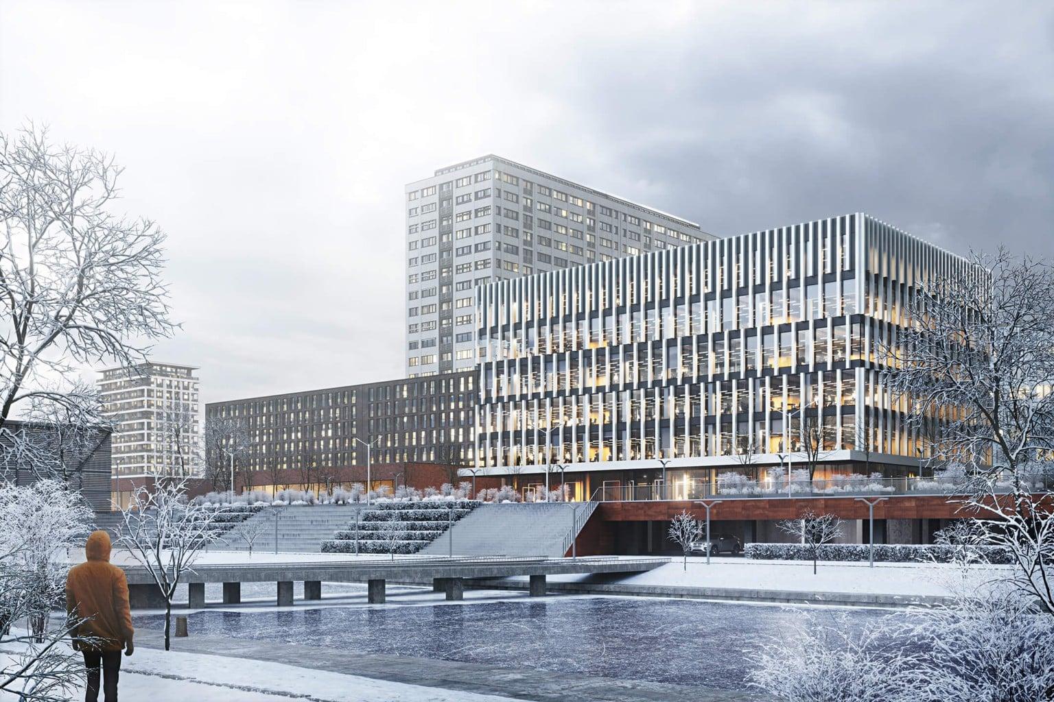 Render externo de um prédio - Arquiteto: promova de maneira inteligente seus serviços com a visualização 3D