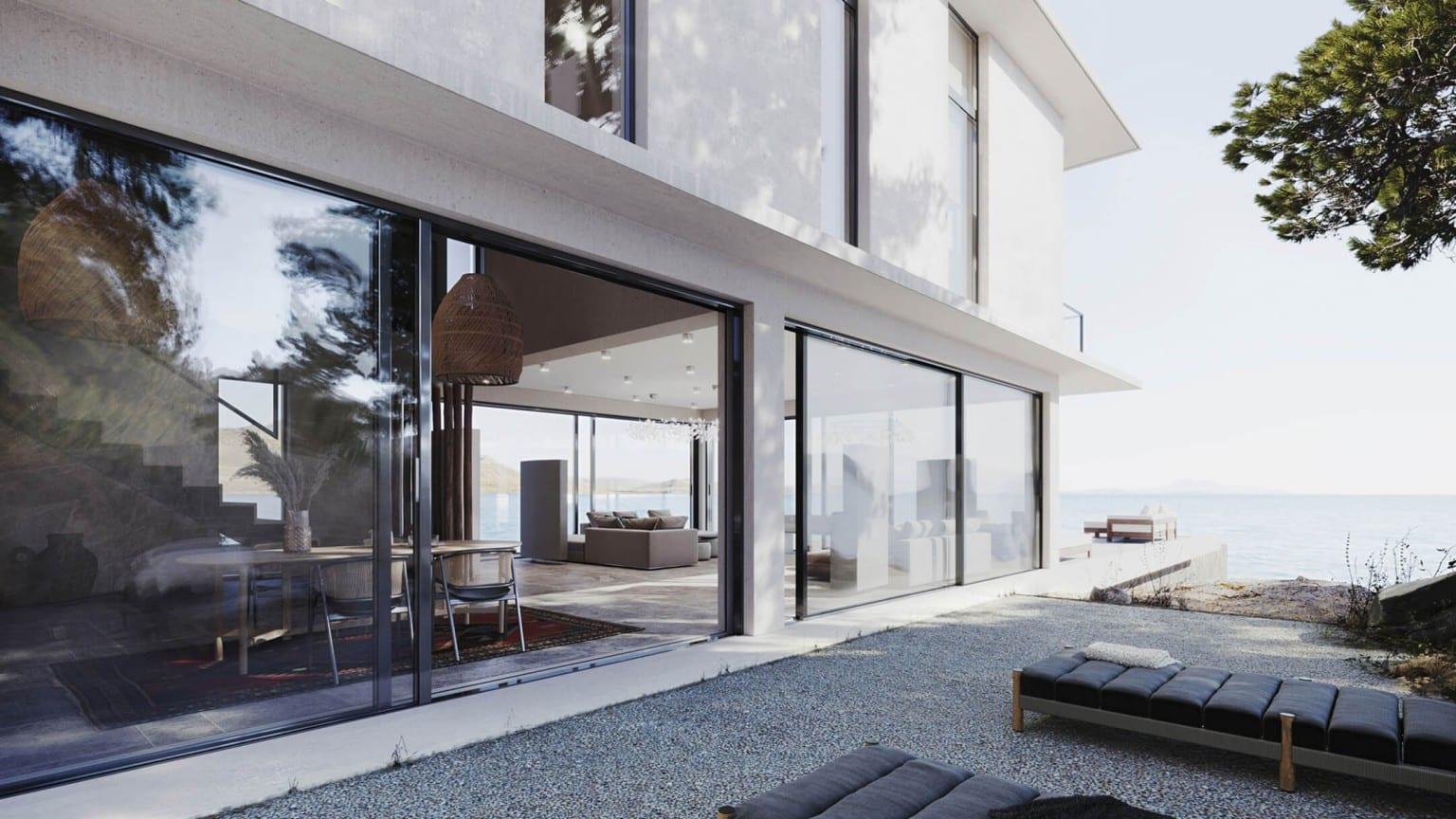 Visualização externa de uma casa - Arquiteto: promova de maneira inteligente seus serviços com a visualização 3D