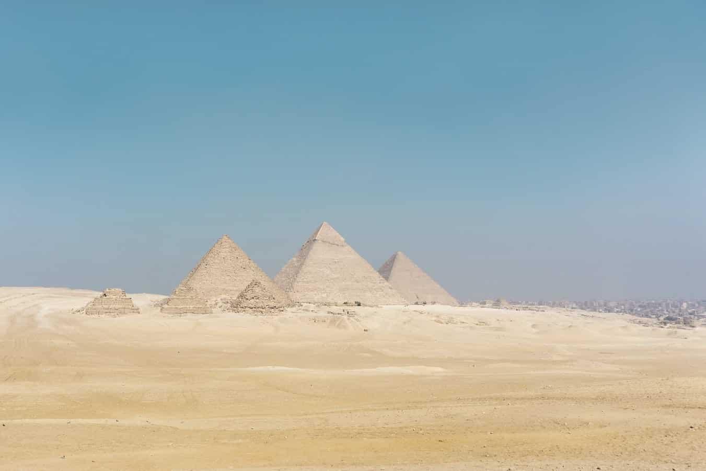 Grandes Pirâmides de Gizé - A arquitetura das pirâmides do Egito