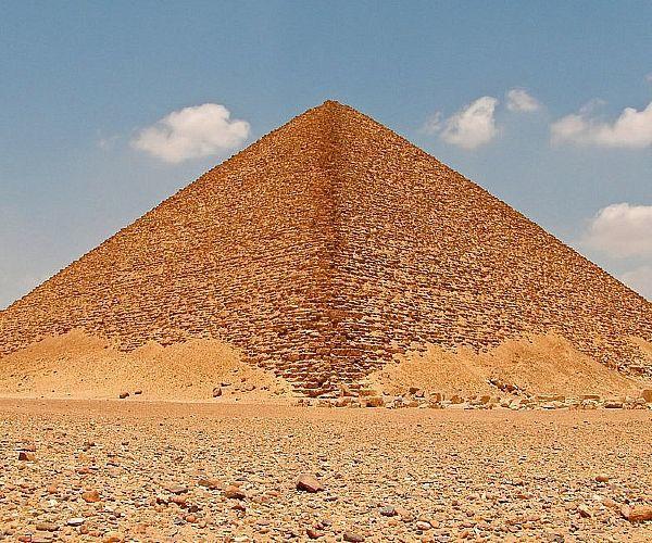 pirâmide vermelha - A arquitetura das pirâmides do Egito
