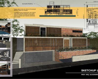 Curso de com Sketchup e Layout para Pranchas Arquitetônicas e Mobiliário