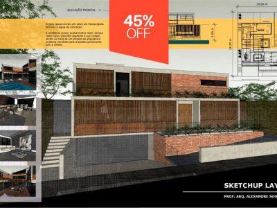 Curso de Sketchup e Layout para Pranchas Arquitetônicas e Mobiliário